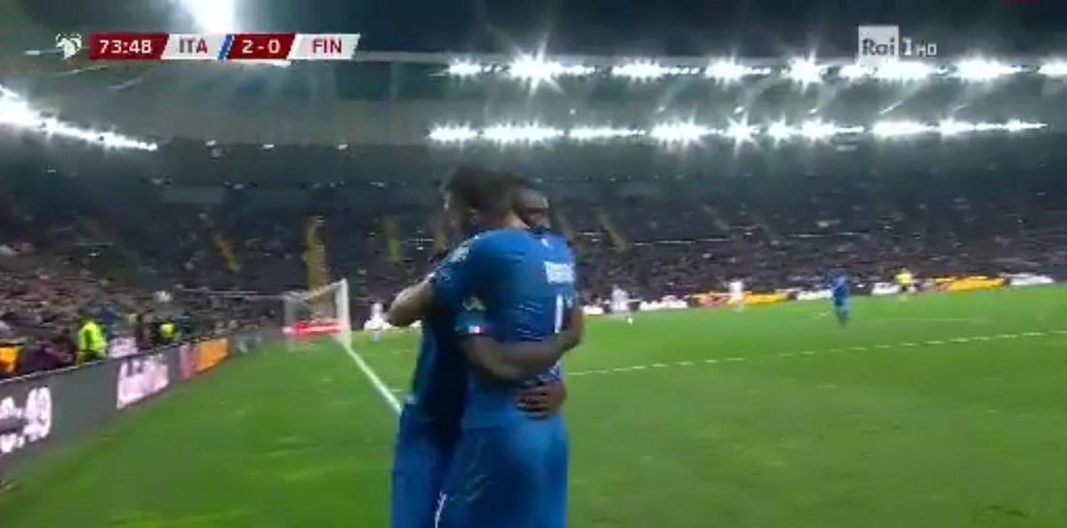 kean italia finlandia 2-0 video gol