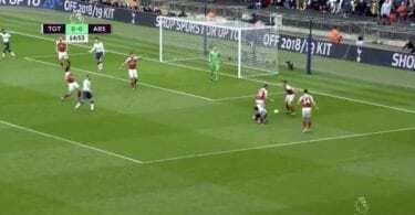 Ramsey gol Tottenham Arsenal