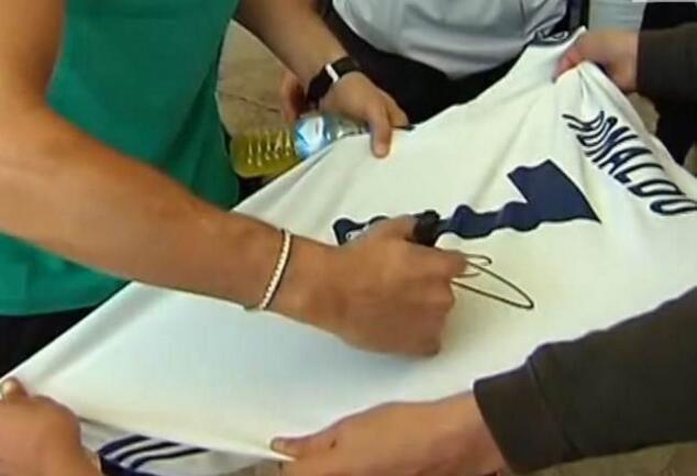 ronaldo autografo maglia juventus