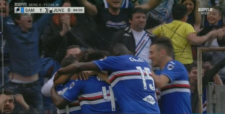 sampdoria-juventus 2-0 highlights video gol