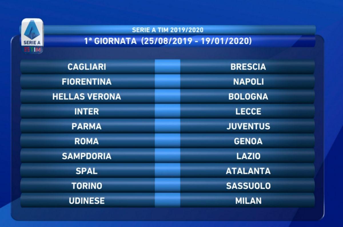 Roma Calendario Serie A.Calendario Serie A 2019 2020 Le 38 Giornate Della Juventus