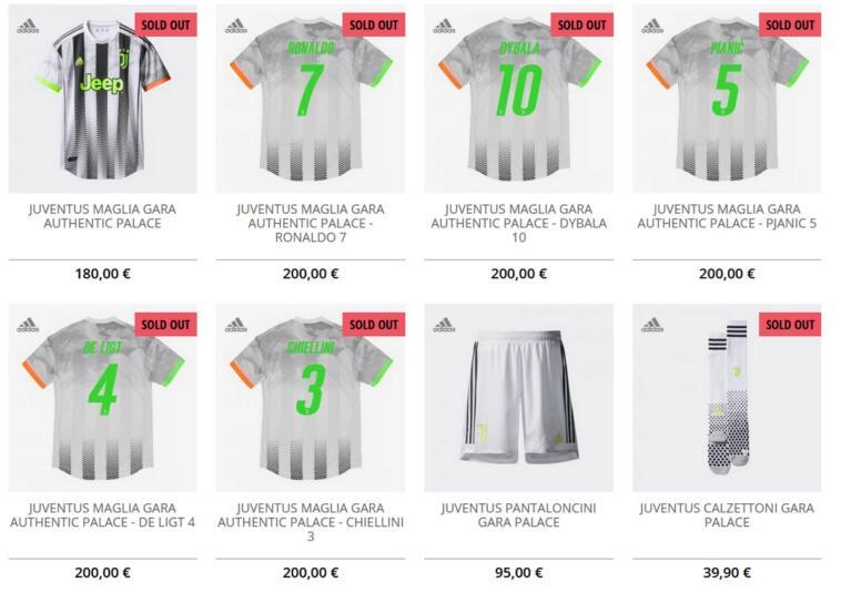 I prezzi della collezione Juventus x Palace
