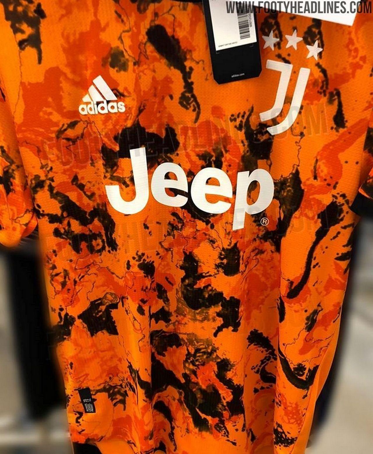 terza maglia juventus 2020-2021 arancio nero