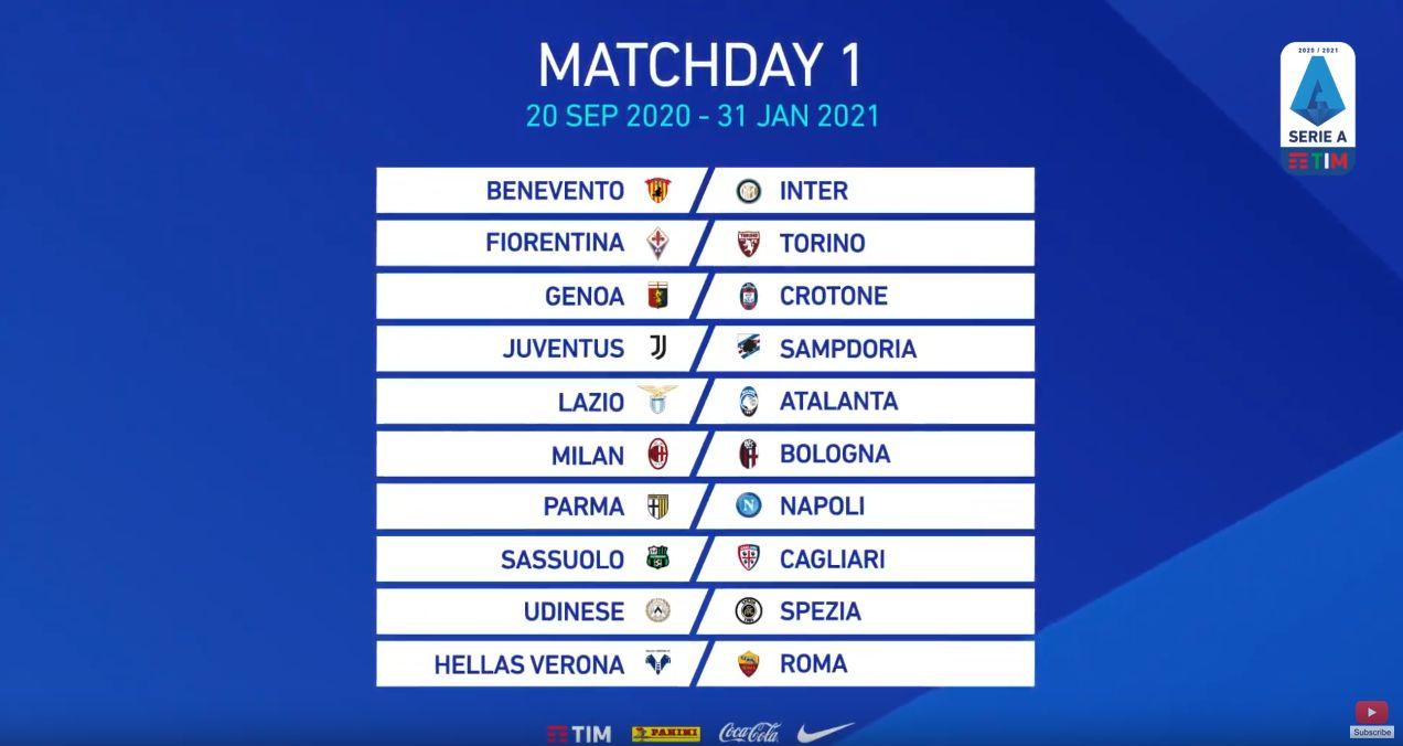 Calendario Serie A 2021