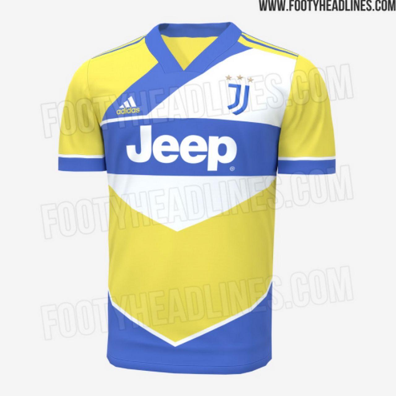 Terza maglia Juventus 2021-2022: tornano i colori gialloblu (FOTO)